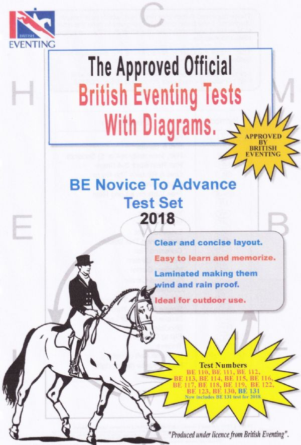 Laminated British Eventing Novice To Advanced  Test Series